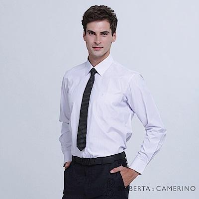 ROBERTA諾貝達 台灣製 商務型男 條紋長袖襯衫  澄紫