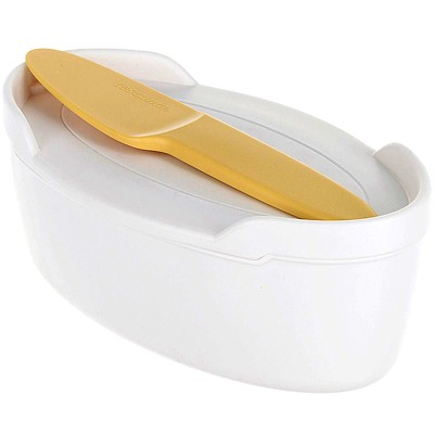 《TESCOMA》附蓋奶油盤+抹刀