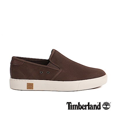 Timberland 男款Amherst深咖啡色絨面真皮便鞋