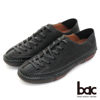 【bac】陽光型男 帥氣造型休閒鞋-黑