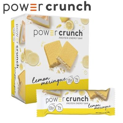 【美國 Power Crunch】Original 乳清蛋白能量棒 Lemon Meringue (檸檬蛋白派/12x40g/盒)