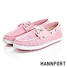 HANNFORT CALIFORNIA抽繩帆船鞋-女-櫻花粉