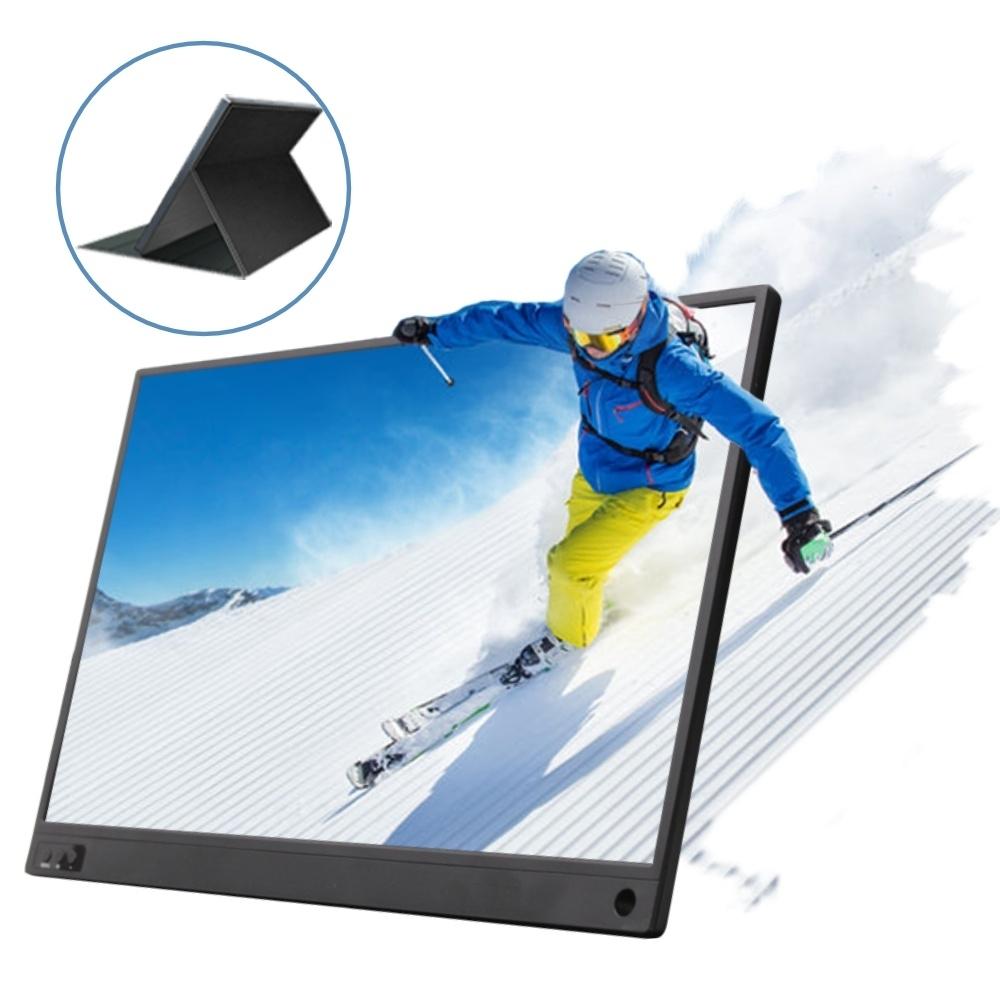 IS愛思 PLAYTV-M 15.6吋無線同屏可攜式行動液晶螢幕 (附可立式螢幕支架皮套)