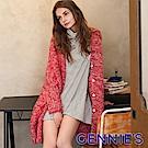 Gennies專櫃-長版針織寬鬆外套(紅)TS803