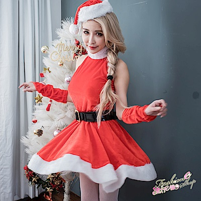聖誕裝洋裝聖誕服 聖誕節派對表演服女聖誕服裝 流行E線
