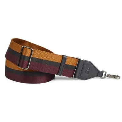 MARKBERG Finley 丹麥手工時尚編織寬版肩揹帶 (酒紅棕)