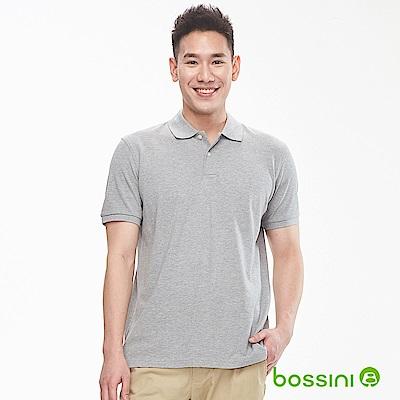 bossini男裝-純棉素色POLO衫19淺灰