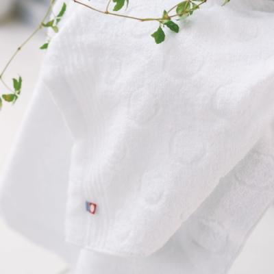 日本派迪 今治飯店用弦月100%純綿柔膚毛巾-純白