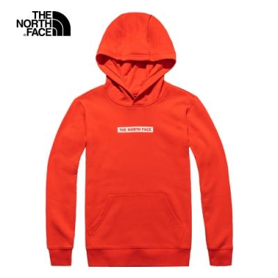 The North Face北面男女款紅色連帽大學T|4UDK15Q
