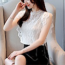 DABI 韓國風寬鬆顯瘦蕾絲衫飛飛袖優雅短袖上衣