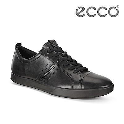 ECCO COLLIN 2.0 單色綁帶休閒鞋 男-黑