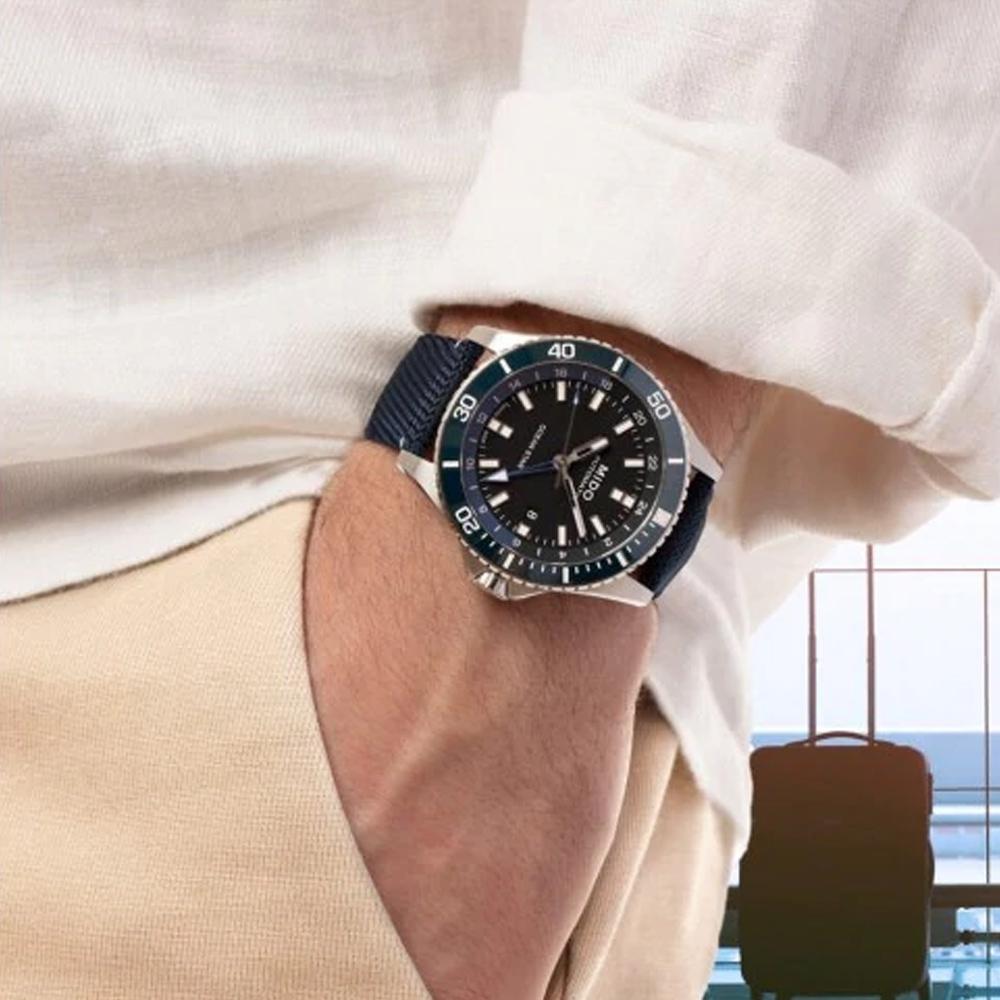 MIDO Ocean Star海洋之星 GMT 200米潛水機械錶(M0266291705100)