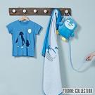 YVONNE COLLECTION 企鵝背包萬用被(附防走失牽繩)-水藍