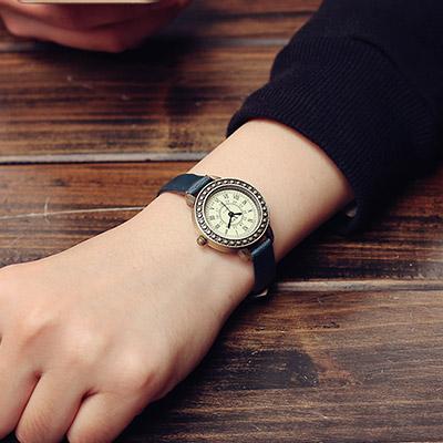 watch-123 英倫情人-歐風典雅仿舊小盤細帶手錶 (3色任選)