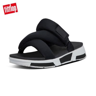 FitFlop ELSA PADDED-STRAP SLIDES造型運動風涼鞋-女(黑色)