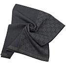 GUCCI 經典G LOGO造型長圍巾/披肩(灰藍)