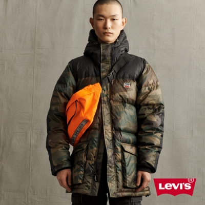 Levis 男款 連帽羽絨外套 重軍裝迷彩 600FP 羽絨填充百分之80
