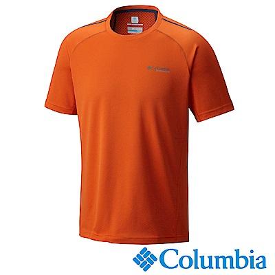 Columbia 哥倫比亞 男-鈦防曬15涼感快排短袖上衣橘色UAE06330OG