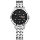 CITIZEN 星辰表 自動上鍊日期日本機芯機械錶不鏽鋼手錶-黑色/29mm