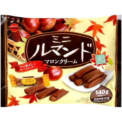 北日本Bourbon 栗子風味蘿蔓捲餅乾(134.4g)