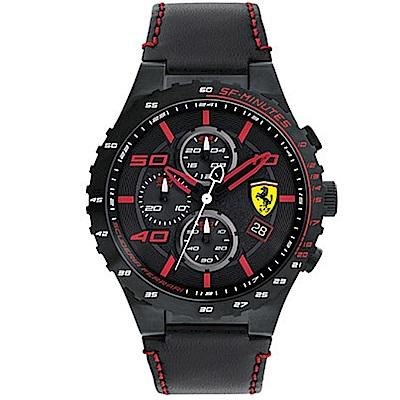 FERRARI 法拉利/鑽紅飆速運動計時腕錶/FA0830363
