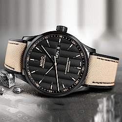 MIDO 美度 Multifort 先鋒系列80小時天文台矽游絲機械錶-42mm