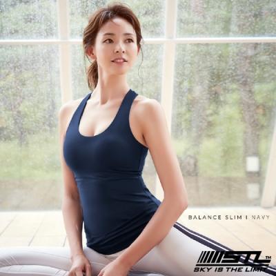 STL yoga bra T SS Balance Slim 韓國瑜珈 運動機能訓練背心上衣(含胸墊)平衡午夜藍