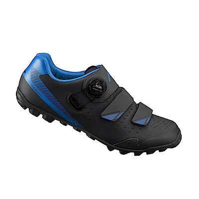 【SHIMANO】ME400 男性林道越野性能車鞋 黑/藍色