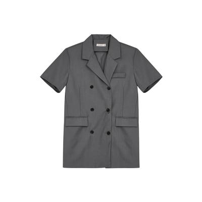 Shester55-微墊肩西裝短裙(二色)-女【B2SH154】