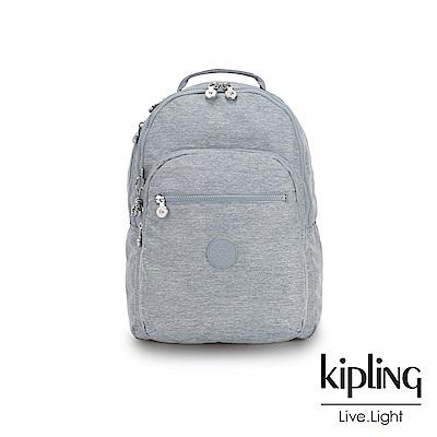 Kipling 極簡風淺灰丹寧後背包-CLAS SEOUL