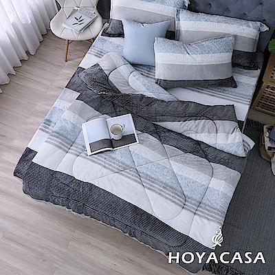 (團購)HOYACASA線條節奏 抗靜電法蘭絨加厚毯被-2入組