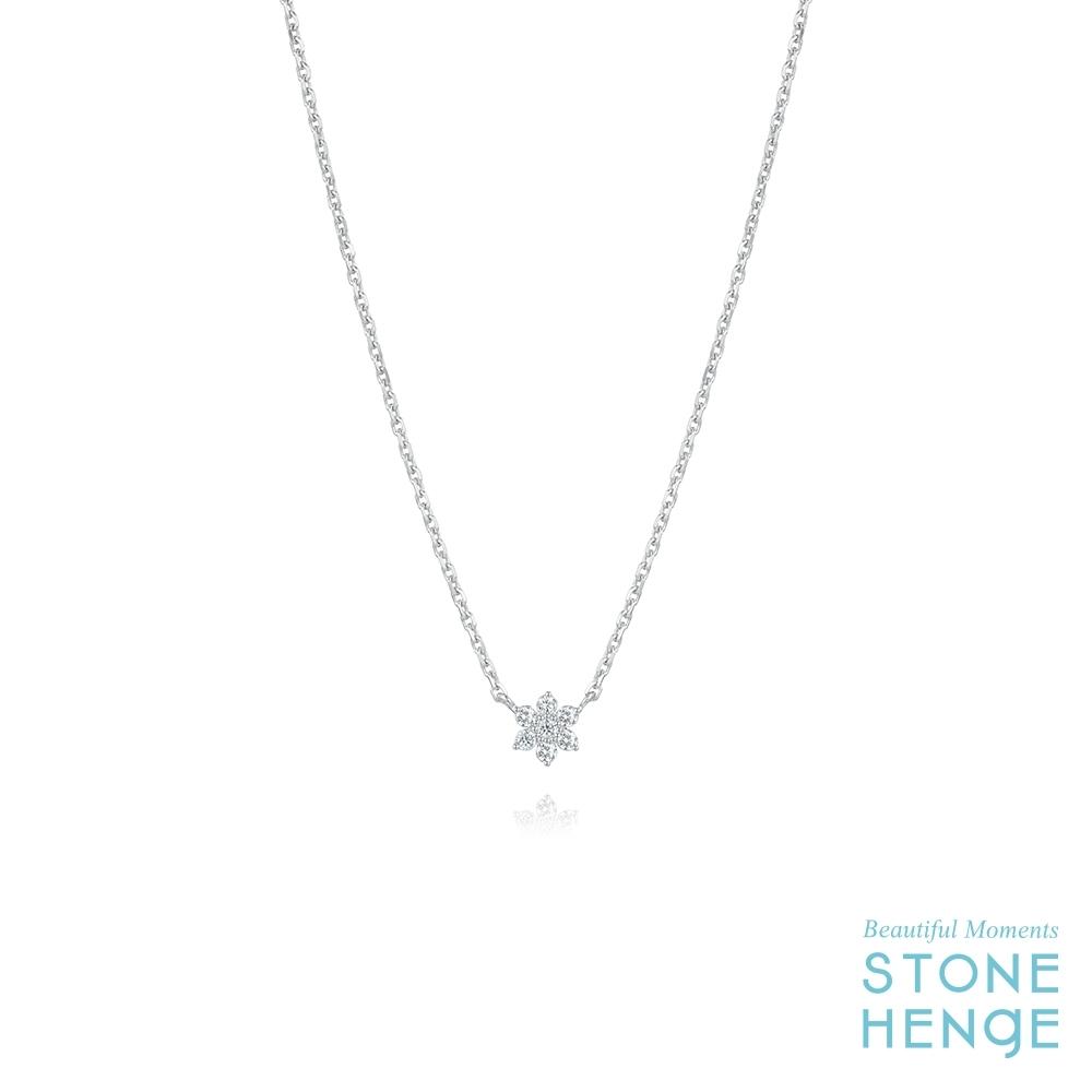 STONEHENGE 斯通亨奇 純銀花朵造型鋯石項鍊