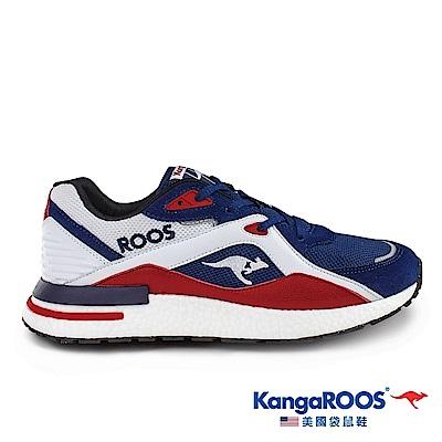 KangaROOS 美國袋鼠鞋 男 RUNAWAY EVO 科技運動鞋(藍/紅/白-KM01026)