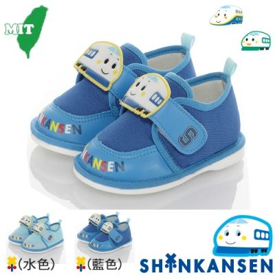 SANRIO三麗鷗新幹線 童鞋 輕量減壓吸震寶寶學步嗶嗶鞋-水.藍