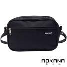 AOKANA奧卡納 YKK拉鍊 輕量防潑水兩用多層耐重包 腰包 側背包(黑)03-016
