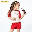 Balabala巴拉巴拉-清新色調水果圖案標語家居套裝-女(2色)