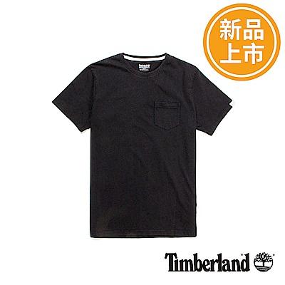 Timberland 男款黑色品牌LOGO短袖T恤