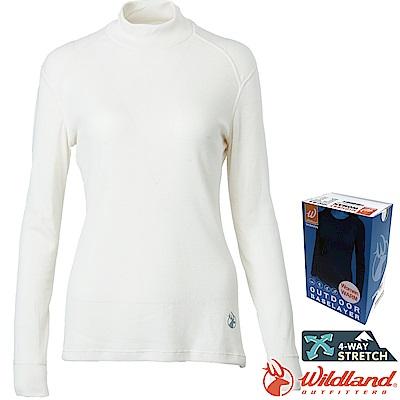 Wildland 荒野 H2661-81米白 女Highest立領保暖衣 發熱衣