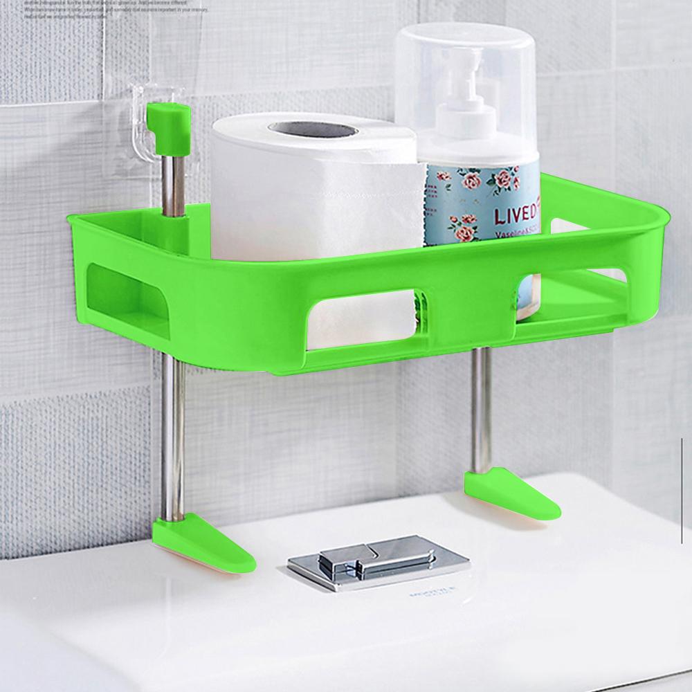 【收納皇后】多功能浴室置物架_綠色(單層)