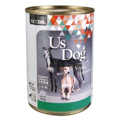 Seeds 聖萊西-Us Dog愛犬主食餐罐-小牛肉+蔬菜風味(400gX24罐)