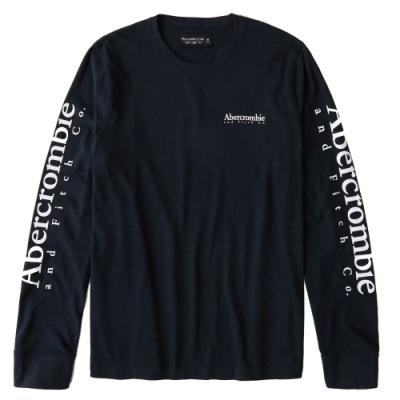 AF a&f Abercrombie & Fitch 男 長袖T恤 藍色 1481