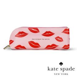 唇唇欲動紅印皮革筆袋 Lips