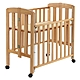 台灣製造 實木製收折嬰兒中床(折合床) product thumbnail 1