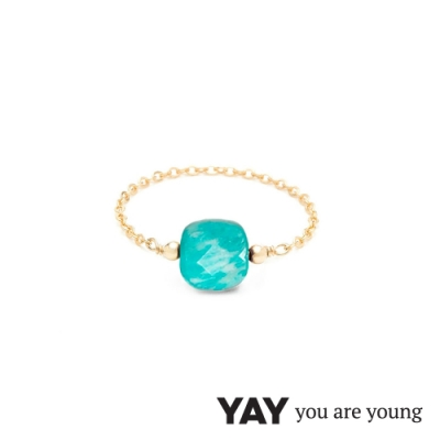 YAY You Are Young 法國品牌 Riviera 孔雀石鍊戒 金色經典款