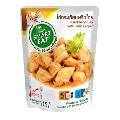 (任選) Smart Eat 泰式道地風味 黑胡椒大蒜打拋雞肉即食包(料理包/方便/調理包/咖哩包)