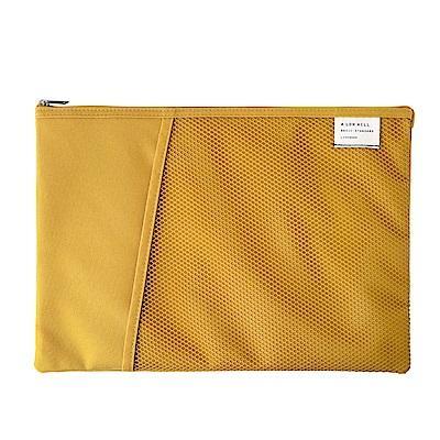Livework 休閒風雙層對摺文件袋V2-芥末黃