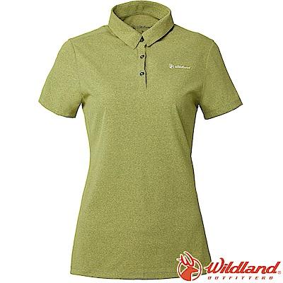 Wildland 荒野 P1603-40芥末綠 女POLARTEC排汗POLO衫