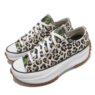 Converse 休閒鞋 Run Star Hike 穿搭 女鞋 厚底 舒適 帆布 豹紋 迷彩 穿搭 米白 白 170912C