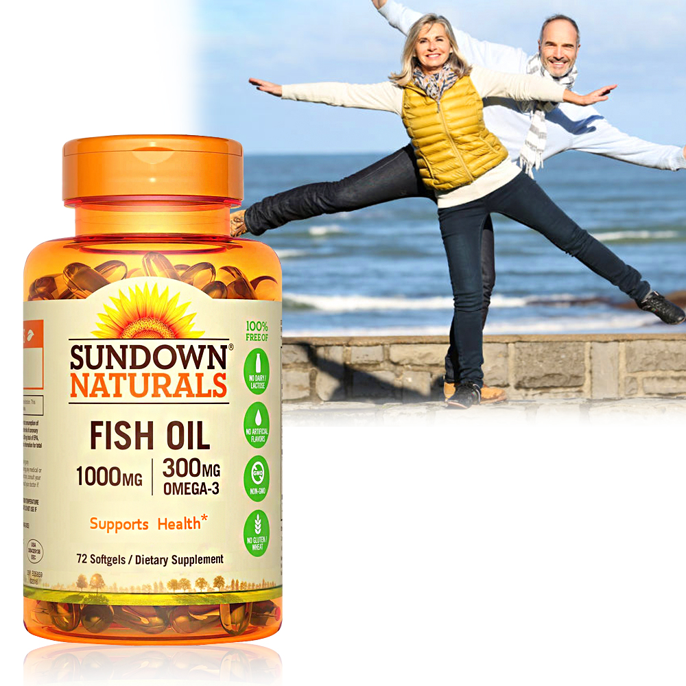 Sundown日落恩賜 高單位精純魚油(72粒/瓶)