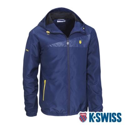 K-SWISS Ct Solid Jacket 2風衣外套-男-藍